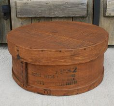 Vintage Large Round Wood Cheese Box With Lid Wood Cheese