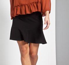 Falda negra volante #otoño #autumn #fall #skirt #falda