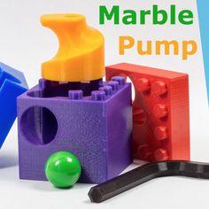 Free Marble Pump to build a Hubelino Marble Machine STL file, ewap