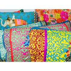 Viva la Fiesta! Getting in the spirit with block print throw pillows from India, inspired by Italy and Africa. #fiesta2015 #santabarbara #viva