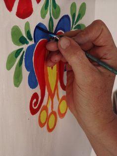 painted ornament in Moravian Slovakia Flower Mural, Flower Art, Decoration, Art Decor, Polish Folk Art, Folk Art Flowers, House Ornaments, Thinking Day, Pottery Painting
