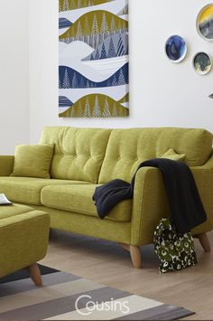 Cosenza is a stylish upholstery collection from Ercol combining contemporary dsign with retro undertones