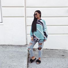 Jumper - Asos  Jeans - Topshop  Sliders - @egoofficial (you can use code MISSJOSLIN15 for money off)