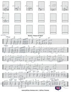 Boston Peace Of Mind Guitar Tab by Jeffrey Thomas. This is a one of a kind custom guitar tab with all the right licks. Free Skype lesson with purchase!