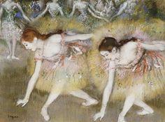 Edgar degas Dancers Bending Down #canvasart #oilpaintings
