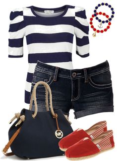 """nautical"" by c-michelle on Polyvore.g... super cute"