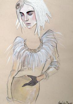 The amazing sketches of fashion designer Anne Sofie Madsen