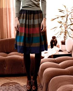 Fall Outfit Inspiration: Skirt with Autumn colours