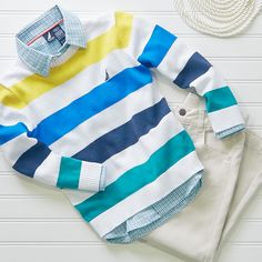 Dress your little boy up in head-to-toe Nautica.
