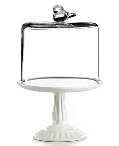 Martha Stewart Collection Serveware, Bird Dome with Cupcake Cake Stand - Serveware - Dining & Entertaining - Macy's