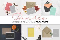 Greeting Cards Mockup BUNDLE 2016 - Product Mockups