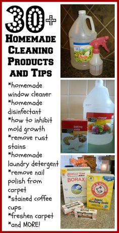 30+ Homemade Cleaning Products and tips (including how to get nail polish out of carpet!)