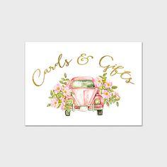 Impression 5 x 7 de mariage cartes de téléchargement instantané & Table de mariage cadeaux tableau signe signent fête mariage bricolage imprimable stationnaire mariée rose imprimé