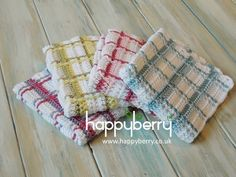 Happy Berry Crochet: How To - Crochet Tartan Plaid Wash Cloths