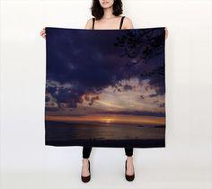 Lake Superior Agawa Bay Sunset 4 Large Square Silk Scarf