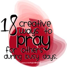 18-ways-to-pray during busy days
