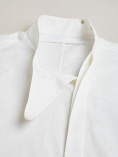 Thamanyah Men's Dervish Collar Short Sleeve Shirt