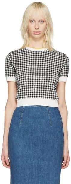 MIU MIU Black & White Gingham Pullover. #miumiu #cloth #pullover