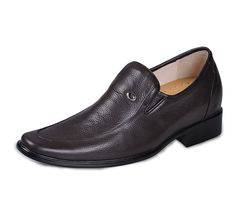 Coffee  shoes for height increase 7cm / 2.75inch with the SKU:MENJGL_4031_1 - Coffee men height increasing elevator dress shoes can be taller 7cm / 2.75inches