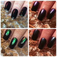 Same #naturalnails using Hand & Nail Harmony #blackshadow from NailHarmonyUK/Gelish with pigment. Taken in different lighting and angels.