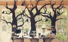 "From Marigold Events: For this Halloween party, I partnered with my friend, Monika of  Hello Brielle. Our main inspiration came from a black and white ""Trick or Treat"" banner made by Cardboard Sheek. And after seeing an elegant black and silver tablescape online, we decided to go elegant as well. Eventually, we ended up with a […]"
