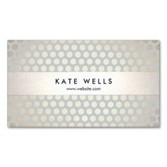 Cute Modern Polka Dot Pattern Business Card Template. Fun trendy style card great for hair stylists, makeup artists, salon and fashion boutique owners. Fully customizable.
