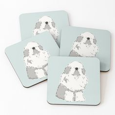 Old English Sheepdog, Coasters, My Arts, Art Prints, Drink, Printed, Awesome, Artist, Cute