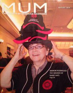 Manon on the cover of M-U-M Magazine
