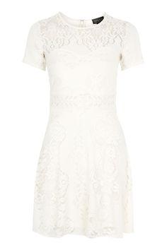 2ad0fdaba9f3 Fluted Sleeve Lace Dress - Dresses - Clothing