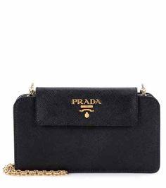 Leather shoulder bag | Prada