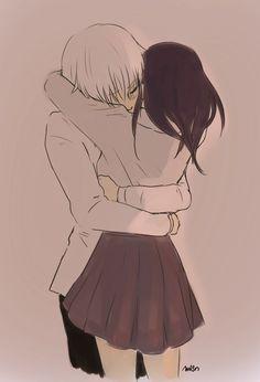 Anime Couples Kaneki x Touka // TouKen - KaneTou - - Anime Couples Hugging, Couples Anime, Anime Couples Drawings, Cute Couples, Anime Couples Cuddling, Anime Couples Sleeping, Romantic Anime Couples, Couple Manga, Anime Love Couple