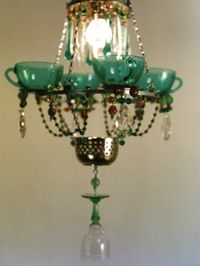 I see different colors of depression glass...oooh, so many ideas, so little time. ;-)