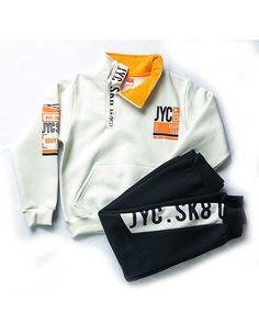 """ΣΕΤ ΦΟΥΤΕΡ """"READY TO GO"""" Baby Boy Outfits, Kids Outfits, Boys Joggers, Kids Fashion Boy, Boys Shirts, Winter Collection, Kids Boys, Motorcycle Jacket, Sweatshirts"""