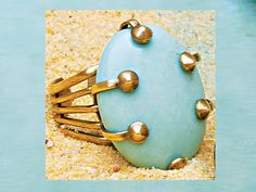 Femailcreations Turquoise Adjustable Ring