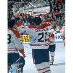Autograph Warehouse 234254 Guy Carbonneau Autographed 8 x 10 in. Photo - Montreal Canadiens Image - No. Inscribed Stanley Cup Champ Captain, As Shown Montreal Canadiens, Stanley Cup Champions, National Hockey League, Hockey Teams, Champs, A Team, Nhl, Baseball Cards, Guys