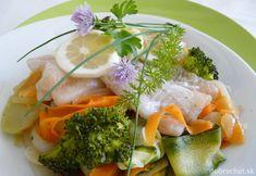 Fotorecept: Ryba so zeleninou na pare