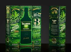 Tullamore D.W Packaging on Behance Beer Packaging, Packaging Design, Pot Still, Green Beer, Irish Whiskey, Graphic Design Illustration, Photoshop, Creative, Gifts