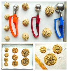 Why battle sticky fingers and produce uneven, odd-shaped drop cookies using a spoon, when a cookie scoop is so fast and effective?
