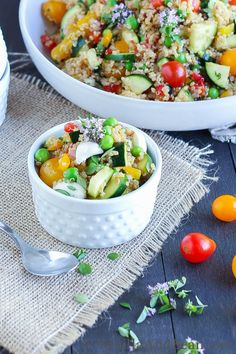 Market Quinoa Salad with Fresh Mozzerella | Vanilla And Bean