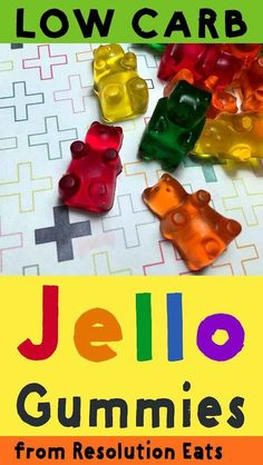 These Keto gummy bears have zero carbs, so they make great low carb treats. And you can eat all the sugar free gummies that you like, with zero guilt. Jello Gummy Bears, Gummy Bear Recipe With Jello, Sugar Free Gummy Bears, Gummy Bear Candy, Sugar Free Candy, Sugar Free Desserts, Sugar Free Recipes, Keto Desserts, Sugar Free Gummy Candy Recipe