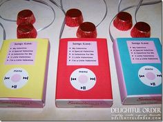 iPod valentine candy tutorial and free printable