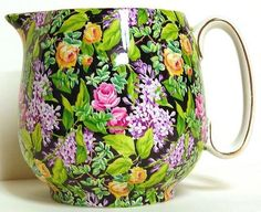 My pattern - except I only paid $9 for this same piece.    Chintz Pitcher, Lord Nelson Ware - Black Beauty