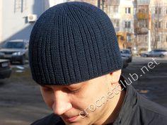 мужская шапка связанная крючком