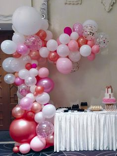 Custom Colors Garland Arch with Confetti Balloons