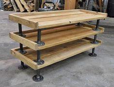My industrial pallet wood shoe rack. LOVE it! No more mess by the front door. :)