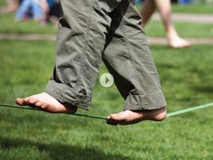 Slackers. Slack lines & zip lines from The Grommet. These are a totally great way for kids to practice balance!!