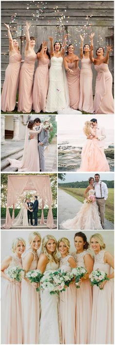 elegant pink wedding photography ideas