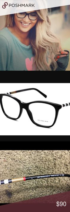 Burberry Eyeglasses BE2141 New. Comes with case and box. Has temporary lenses in them. Nothing wrong. Super stylish. Burberry Accessories Glasses