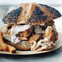 Creole Crab Burgers- the crab and bun looks nice, not so sure about the presentation though!
