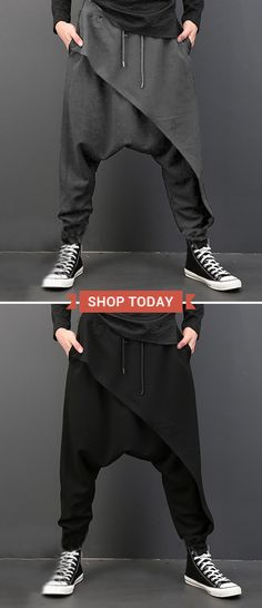 [ US$21.88 ]Men Harem Pants /Baggy Slacks Trousers /Jogger Sportwear /Dance Sweatpants#sports #dance #mensfashion #menstyle